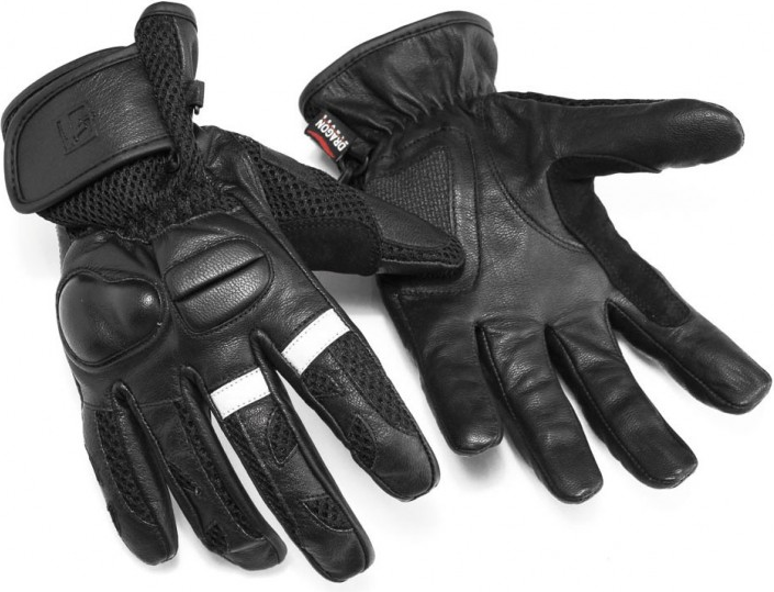 GUANTE MOTORISTA DRAGON BIKE51 PIEL SOFTSHELL NEGRO