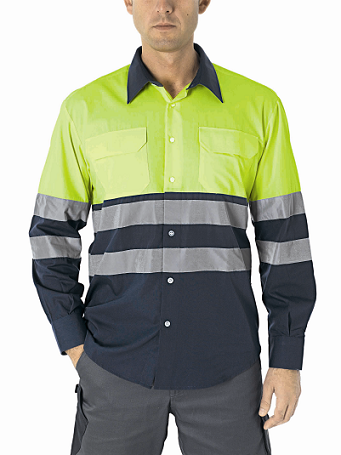 CAMISA ALTA VISIBILIDAD BICOLOR CITY PLUS COLOR